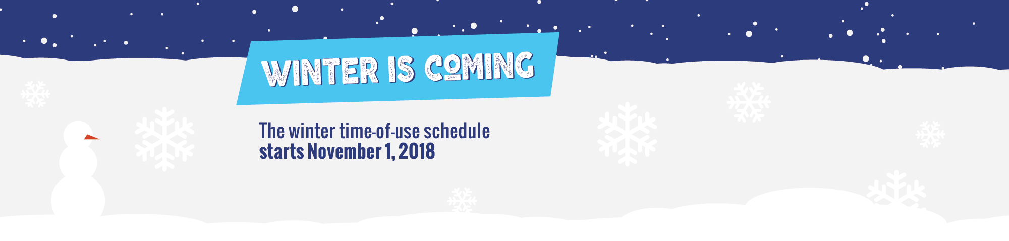 Winter time-of-use schedule starts
